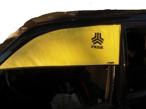 آفتابگیر روی در ماشین